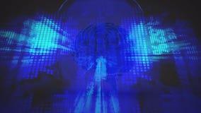 Abstract menselijk hoofdnet