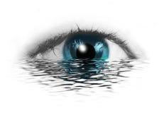 Abstract menselijk oog Stock Foto