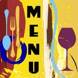 Abstract menu design Royalty Free Stock Images