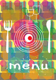 Abstract menu Royalty Free Stock Photography