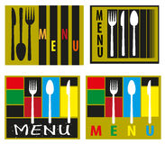 Abstract menu Stock Photography