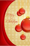 Abstract merry christmas card Stock Images