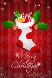 Abstract merry christmas card Stock Image