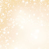 Abstract Merry Christmas card - Golden Christmas lights  and sno. Abstract Sparkling Merry Christmas card - Golden Christmas lights  and snowflakes Stock Images
