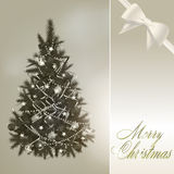 Abstract merry christmas greeting card Stock Image