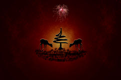 Abstract merry christmas reindeer Royalty Free Stock Photography