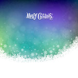 Abstract Merry Christmas snowflakes. Colorful background,  illustration Royalty Free Stock Photo