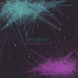 Abstract mesh background with poly shapes Royalty Free Stock Photography