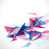 Abstract mesh colorful with lines template, vector & illustration Royalty Free Stock Photos
