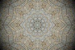 Abstract mesh grid net mandala. White, black and yellow. Abstract Mandala. Web mesh grid net Stock Image
