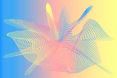 ABSTRACT MESH pastel gradient background royalty free illustration