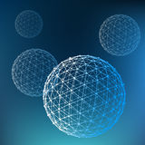 Abstract  Mesh polygonal background. Scope of Stock Image