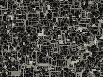 Abstract mesh texture with pipe-like web. Rendered as opacity map in black and white with clipping path embedded in .jpg file Stock Image
