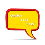 Abstract message bubble design Stock Photo
