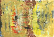 Abstract messy oil paint texture Stock Photography