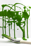 Abstract messy painting green background Royalty Free Stock Photography