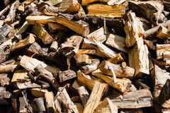 Abstract messy pile of chopped firewood Stock Photography