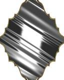Abstract metaalnaambord Element voor ontwerp Malplaatje voor ontwerp exemplaarruimte voor advertentiebrochure of aankondigingsuit Stock Afbeelding
