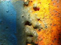 Abstract metal. Multi colored abstract metal surface Royalty Free Stock Photography
