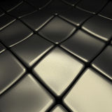 Abstract metal background. Abstract metal plates on black background Stock Photos