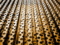 Abstract metal background. A abstract metal background with round holes Stock Photo