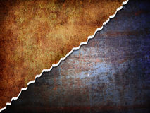 Abstract metal background. Abstract rusty metal background with torn edges Stock Image