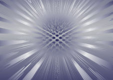 Abstract metal background. With the rays Stock Photos