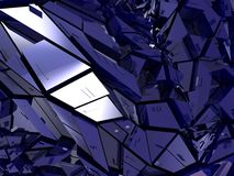 Abstract metal background. Abstract 3d illustration of metal background, blue Stock Images