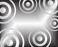 Abstract metal background. Vector illustration of a metal background with circles Stock Photo