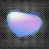 Abstract Metal Background With Blue Speech Bubble. Vector Background Stock Photo