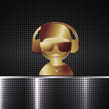 Abstract metal background with Dj for design Royalty Free Stock Photography