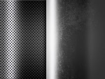 Abstract metal background with grid. Abstract silver metal background with grid Stock Images