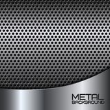 Abstract metal background with perforation Stock Photography