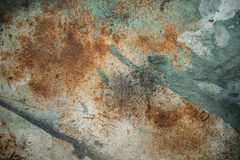 Abstract metal background. Rusty metal texture with some paint on it Stock Photography