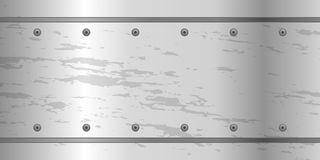 Abstract metal background with screws steel plate. royalty free illustration