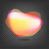 Abstract Metal Background With Speech Bubble Stock Photos