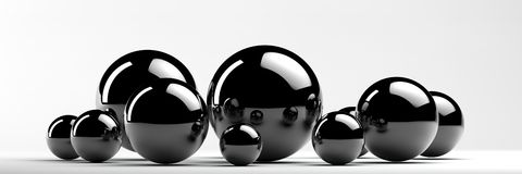 Abstract metal balls Royalty Free Stock Photography