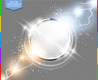 Abstract metal chrome ring power science transparent background transparency in additional format only Royalty Free Stock Photo