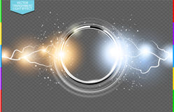 Abstract metal chrome ring power science transparent background transparency in additional format only Stock Photo