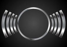 Abstract metal circle logo design Royalty Free Stock Image
