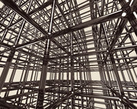 Abstract Metal Construction Stock Photo