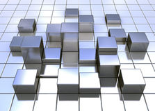 Abstract metal cubes Royalty Free Stock Photo