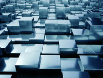 Abstract metal cubes Royalty Free Stock Photos
