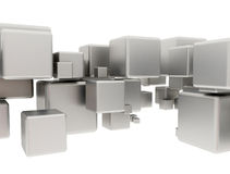 Abstract metal cubes Royalty Free Stock Image