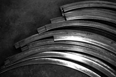Abstract metal curve. Abstract of metal curve for background used Stock Photography