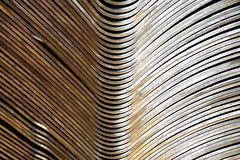 Abstract metal curve. Abstract of metal line curve texture for background used Royalty Free Stock Photography