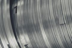 Abstract metal curve Stock Photo
