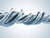 Abstract metal 3d shape Royalty Free Stock Image