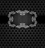 Abstract metal dark frame background Royalty Free Stock Photo