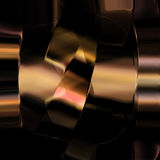Abstract  metal fragment on dark background Royalty Free Stock Photos
